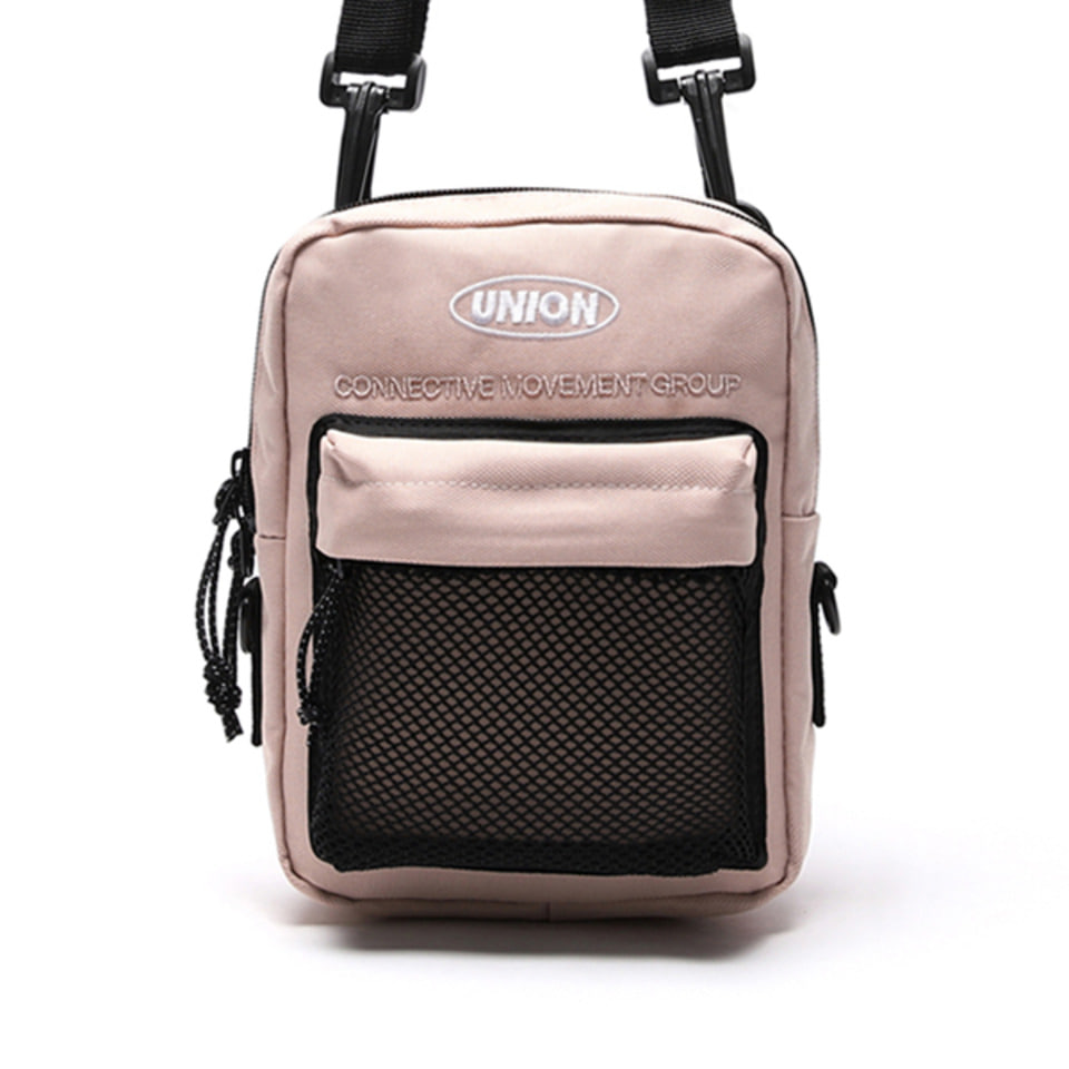 UNION SUPER MESH CROSS BAG - BEIGEPINK