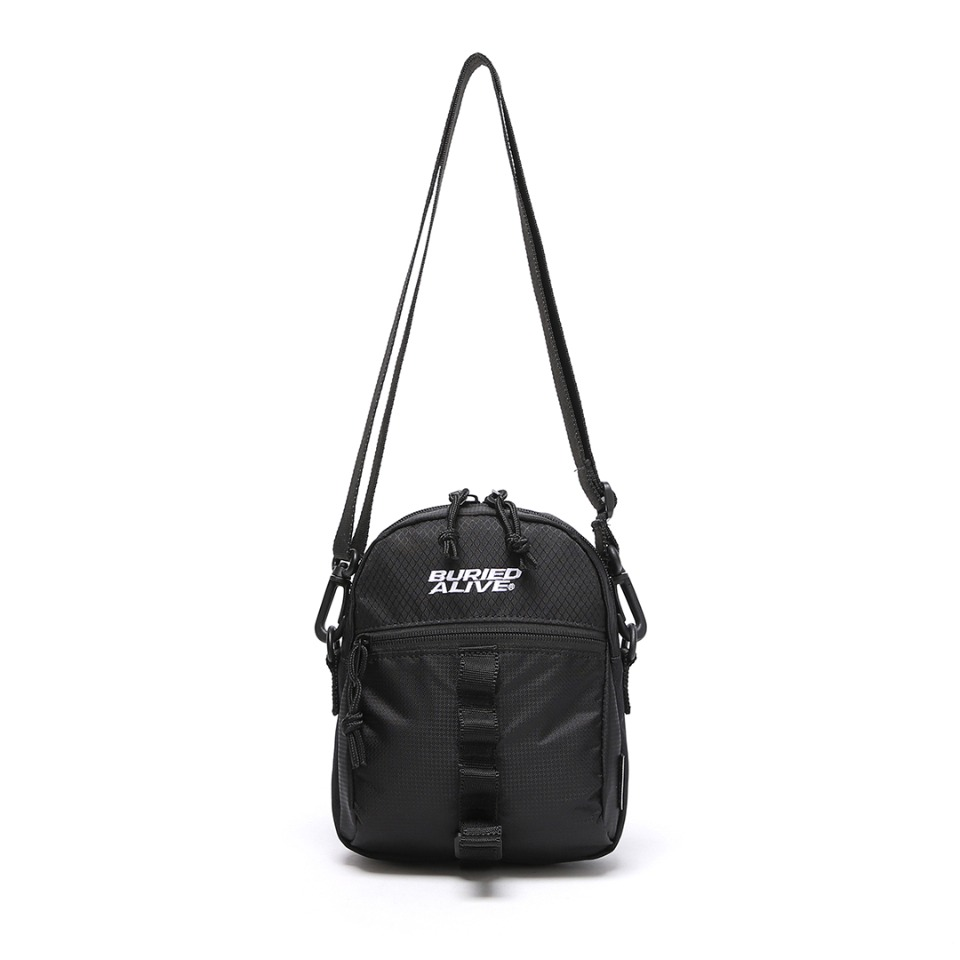 BA X UNION GRID CROSS BAG  - BLACK